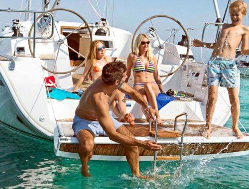 Crociera in barca con bambini