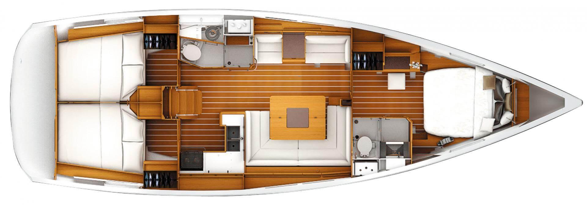 Barca a vela interni