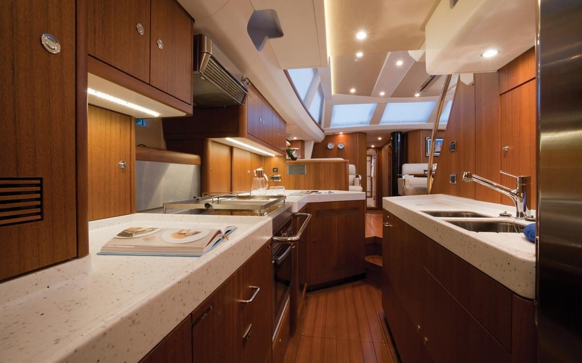 La cucina nelle barche a vela