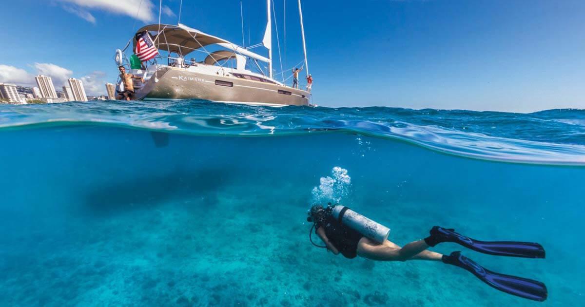 Immersioni subacquee in barca a vela