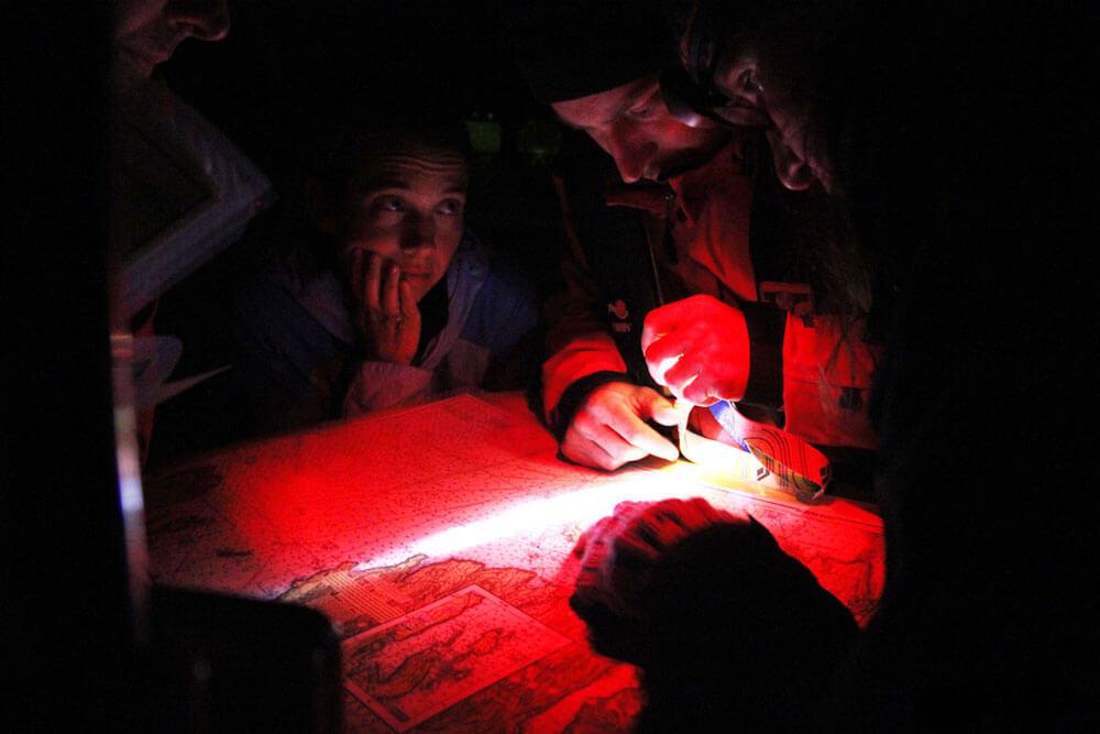 Carteggio navigazione notturna
