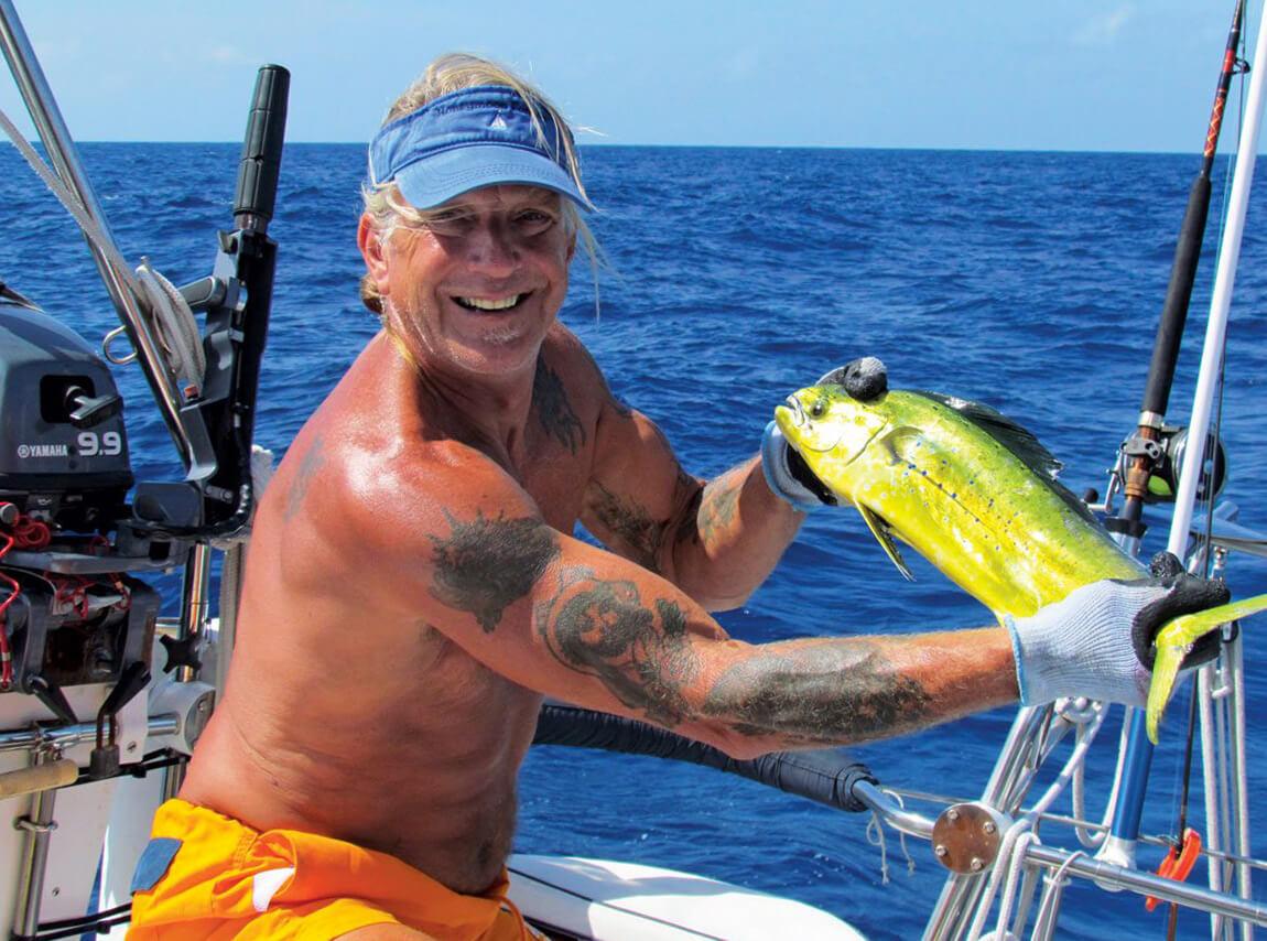 Pesca in barca a vela