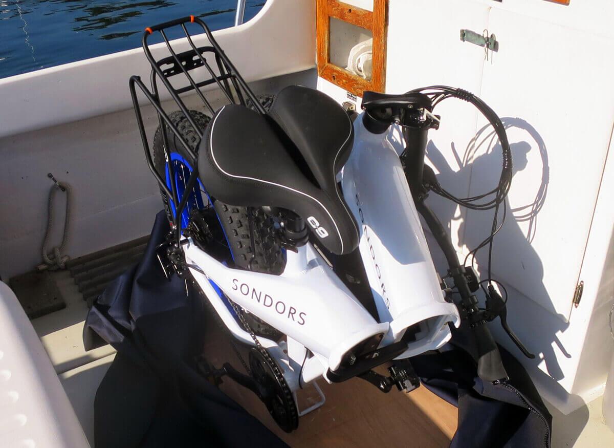 Stivaggio bici in barca
